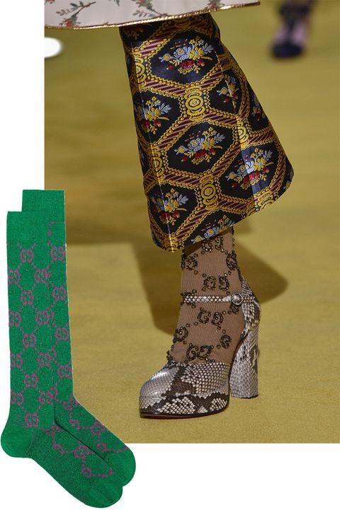 Green, Sock, Footwear, Fashion accessory, Human leg, Shoe, Wool, Visual arts,