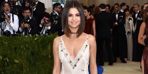 Selena Gomez Wears Custom Coach Dress To Met Gala Selena Gomez Met Gala Dress
