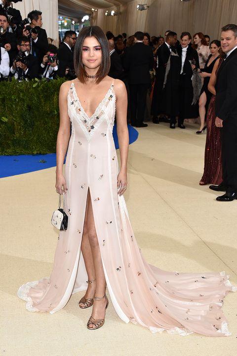 Selena Gomez Wears Custom Coach Dress to Met Gala - Selena Gomez Met ...