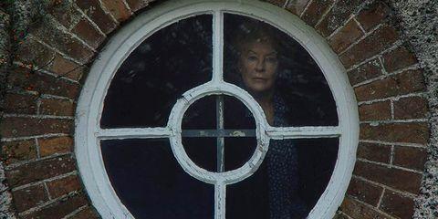 Circle, Window, Symmetry, Wood, Symbol, Metal, Door,
