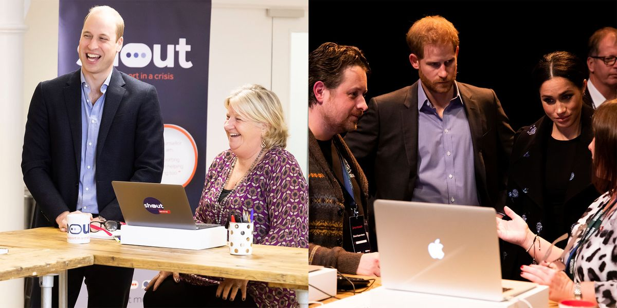The Cambridges & Sussexes Team Up to Launch Mental Health Texting Service - HarpersBAZAAR.com