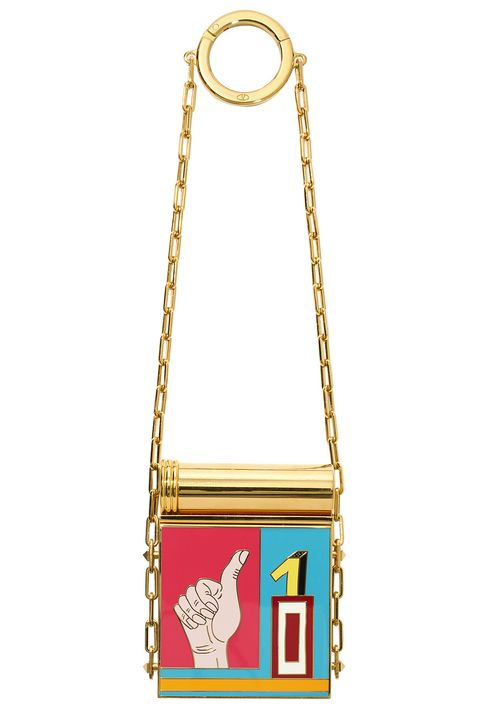 Bag, Handbag, Fashion accessory, Yellow, Shoulder bag, Chain, Material property, Jewellery, Beige, Giraffe,
