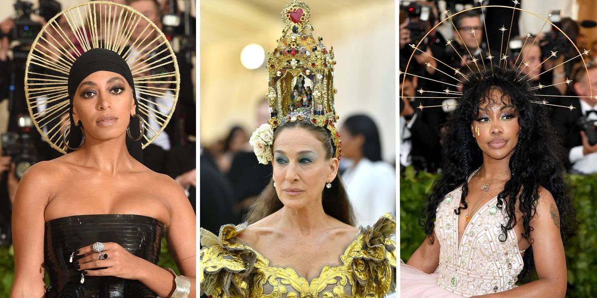 Celebrities In Headpieces And Crowns At 2018 Met Gala
