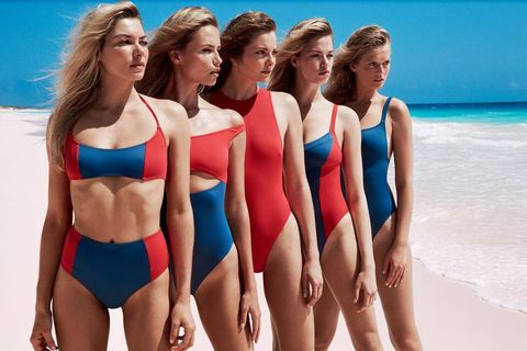 43c213bfaa Exclusive: 13 Supermodels Join Solid & Striped's Swim Team