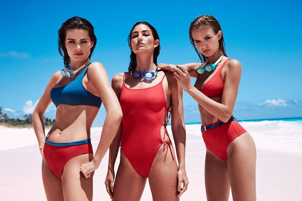ebcf65521254a Exclusive  13 Supermodels Join Solid   Striped s Swim Team