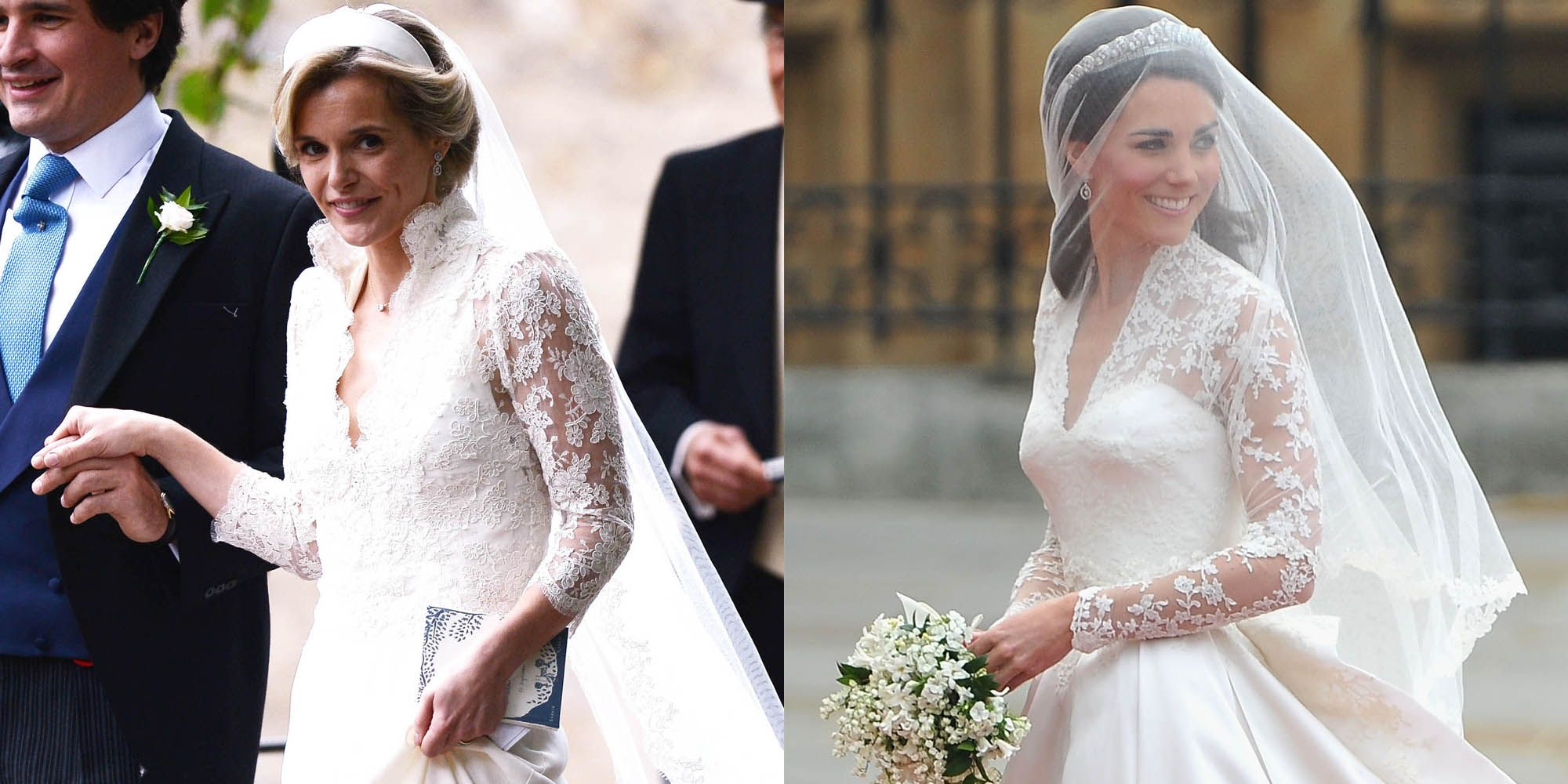 kate middleton s friend sophie carter wore a wedding dress that looked a lot like hers kate middleton s friend sophie carter