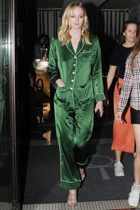 Clothing, Green, Fashion, Street fashion, Outerwear, Fashion model, Leg, Fashion design, Dress, Fashion show,