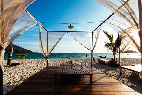 Sky, Sea, Ocean, Vacation, Resort, Horizon, Azure, Tree, Beach, Tropics,