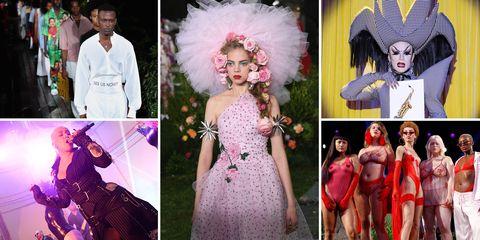 Fashion, Pink, Photography, Dress, Costume design, Headgear, Costume, Feather, Headpiece, Event,