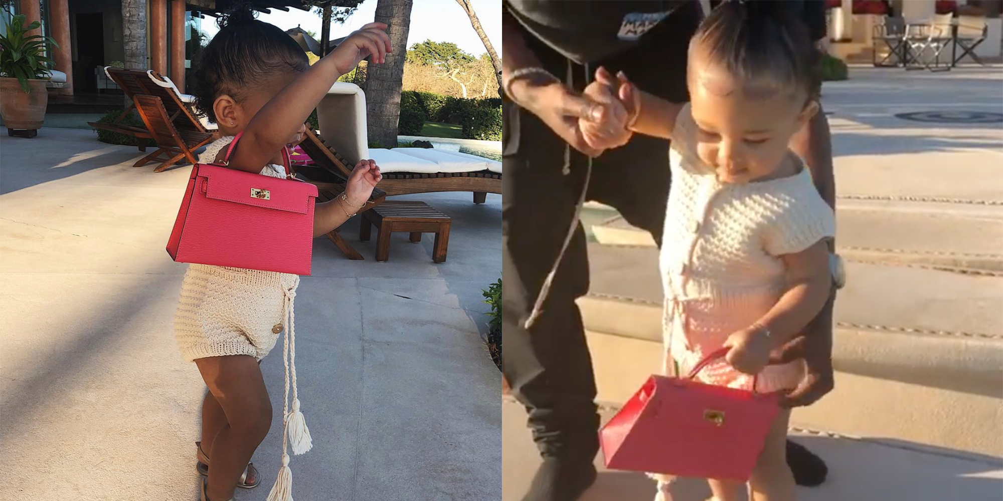 abe518bf7a43 Kylie Jenner's Daughter Stormi Carries Mini Hermès Purse