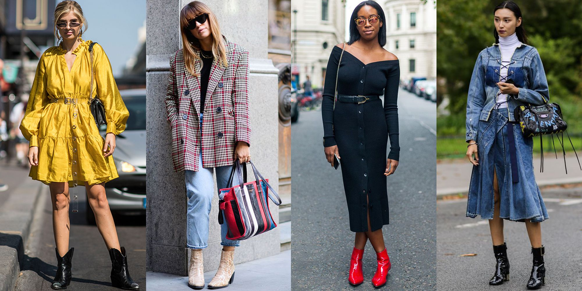 How to Wear Ankle Boots , Ankle Boot Outfit Ideas for Fall