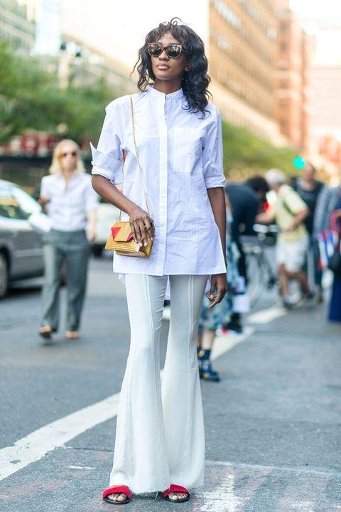 Clothing, Eyewear, Road, Infrastructure, Street, Outerwear, Style, Street fashion, Bag, Urban area,