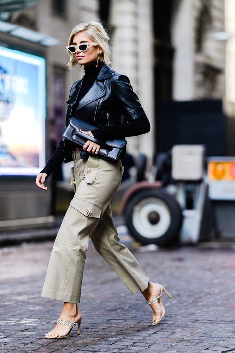 Street fashion, Clothing, Jeans, Fashion, Snapshot, Footwear, Trench coat, Leg, Denim, Street,