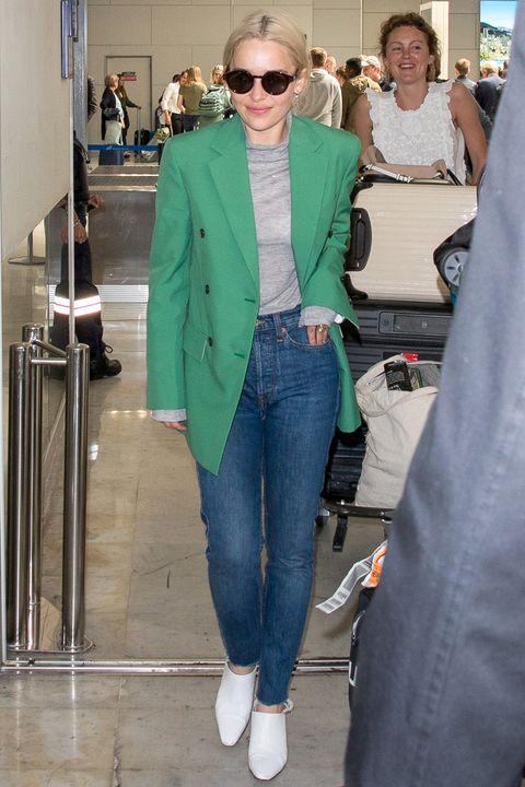 Clothing, Jeans, Street fashion, Fashion, Denim, Eyewear, Sunglasses, Outerwear, Footwear, Blazer,