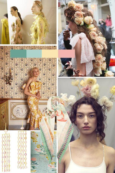 Hair, Hairstyle, Long hair, Fashion, Hair coloring, Hair accessory, Makeover, Dress, Peach, Fashion design,