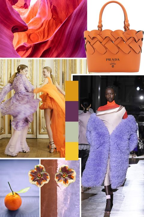 Orange, Purple, Fashion, Peach, Bag, Fashion accessory, Costume, Haute couture, Style,