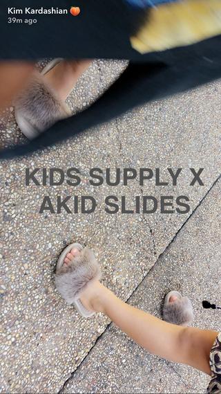 88d13872ce3 Kim and Kanye Are Making Fur Slides for Kids