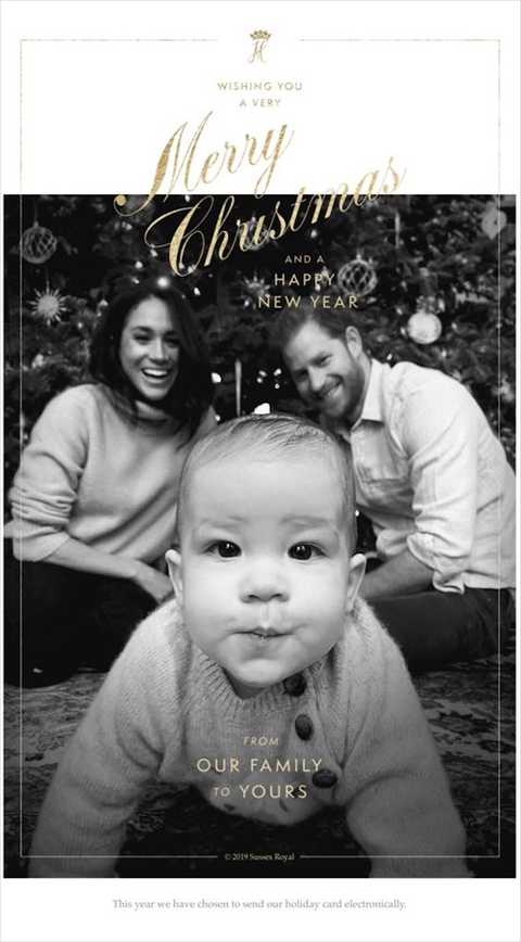 harry, meghan and archie's christmas card 2019