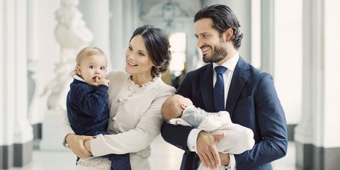 Swedish Royal Family Poses With Prince Gabriel