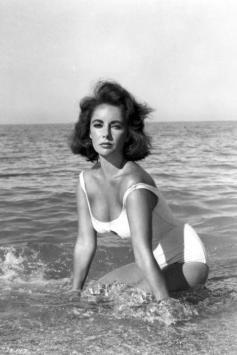 Photograph, Beauty, Model, Black-and-white, Photo shoot, Swimwear, Monochrome photography, Photography, Leg, Sea,