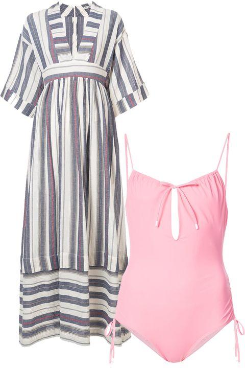 Clothing, Day dress, Pink, Dress, Sleeve, Neck, Swimwear, Cover-up, Nightwear, Pattern,