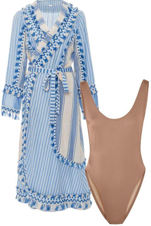 Blue, Clothing, White, Aqua, Turquoise, Dress, Day dress, Cover-up, Sleeve, Blouse,