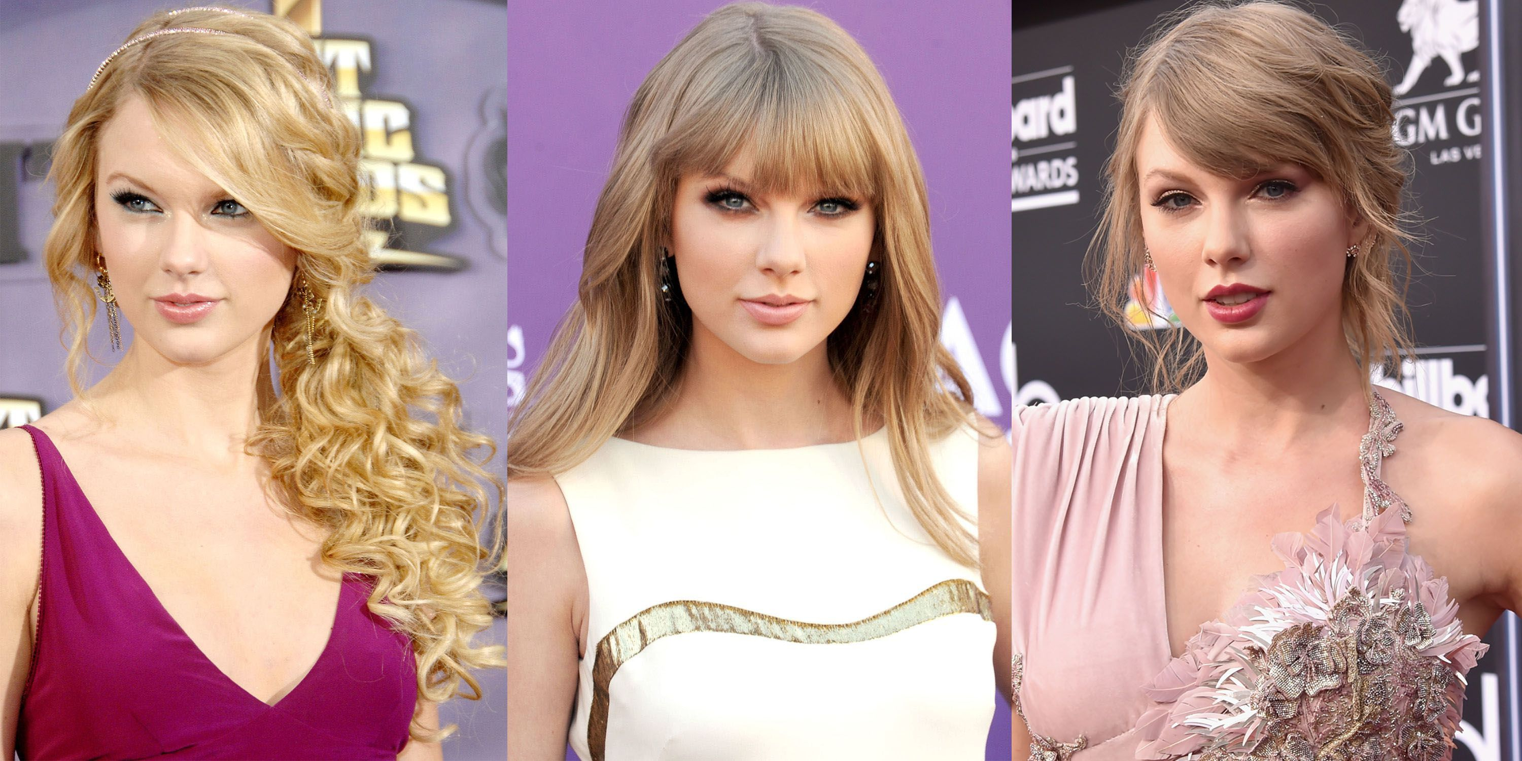 Taylor Swift Hairstyles - Taylor Swift\'s Curly, Straight ...