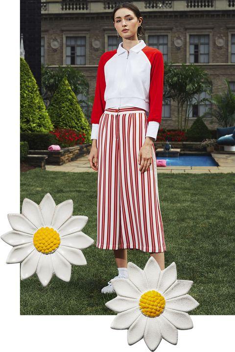 White, Clothing, Red, Fashion, Pink, Dress, Spring, Street fashion, Petal, Flower,