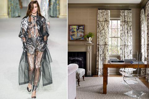 Fashion model, Clothing, Fashion, Dress, Fashion design, Room, Haute couture, Outerwear, Street fashion, Interior design,