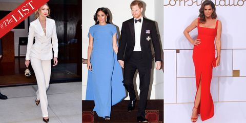 Clothing, Fashion model, Formal wear, Suit, Red, Fashion, Shoulder, Dress, Cobalt blue, Electric blue,