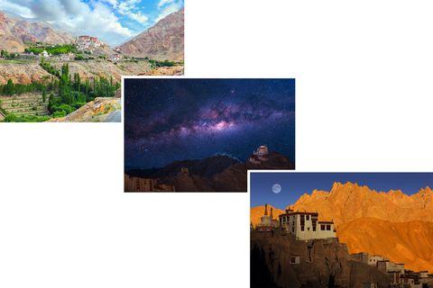 Nature, Natural landscape, Sky, Landmark, Formation, Ecoregion, Geological phenomenon, World, Atmosphere, Collage,