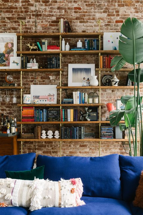 Blue, Green, Couch, Living room, Wall, Room, Furniture, Shelf, Home, Turquoise,