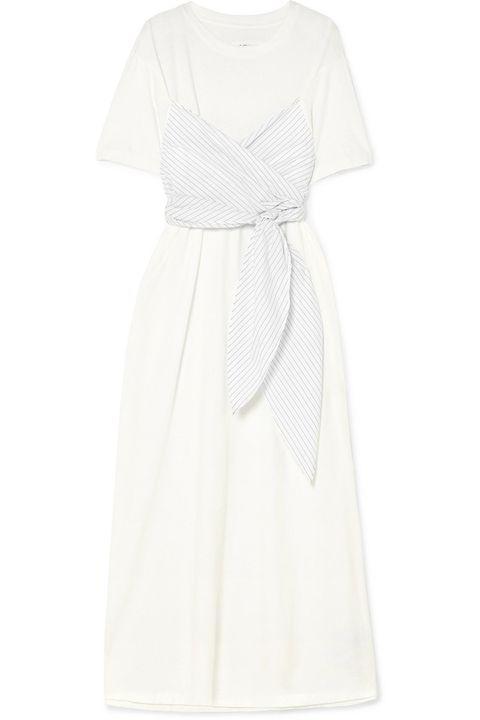 Clothing, White, Dress, Day dress, Gown, Sleeve, Robe, Cocktail dress, Neck,