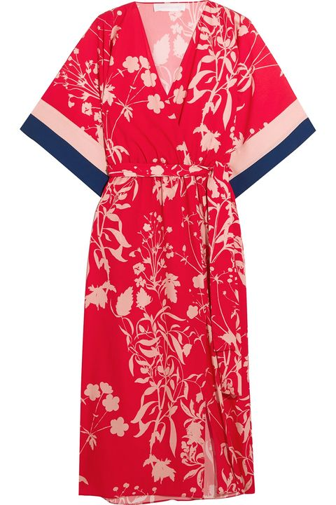 Clothing, Day dress, Dress, Robe, Red, Sleeve, Kimono, Nightwear, Costume, Textile,