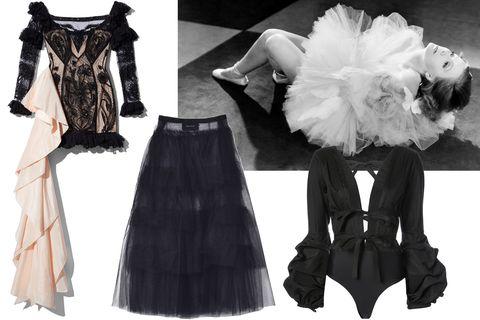 Clothing, Black, White, Victorian fashion, Dress, Fashion, Costume design, Fashion design, Costume, Black-and-white,