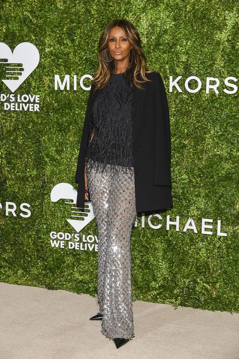 When it comes to sexy style, a body-hugging dress isn't the only way to go.  Supermodel Iman shows just how sexy pants can be with a sparkling version  made ...
