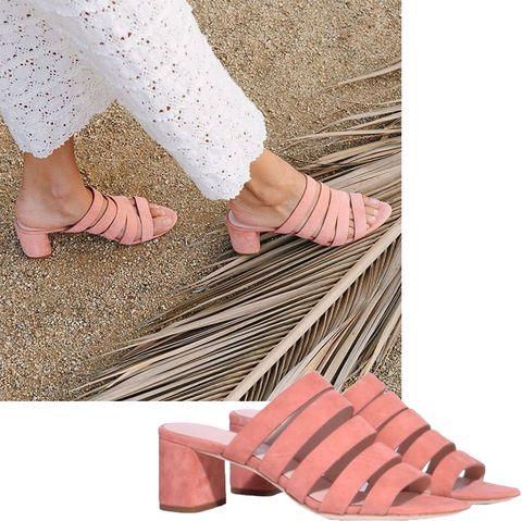 Footwear, Leg, Pink, Shoe, Ankle, Toe, Foot, Sandal, Human body, Slipper,