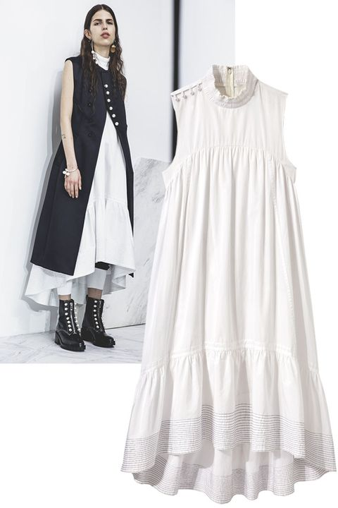 Clothing, Product, Sleeve, Dress, Textile, White, Formal wear, Style, One-piece garment, Street fashion,
