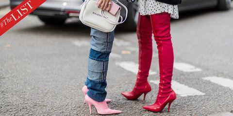 Pink, Footwear, Red, Street fashion, Leg, Jeans, Shoe, Human leg, Fashion, Ankle,