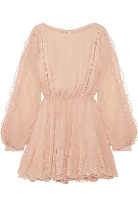 Clothing, Sleeve, Pink, Beige, Dress, Blouse, Peach, Neck, Lace, Outerwear,
