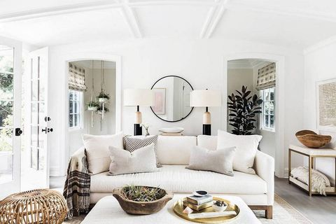 Living room, White, Room, Furniture, Interior design, Property, Couch, Coffee table, Table, Ceiling,