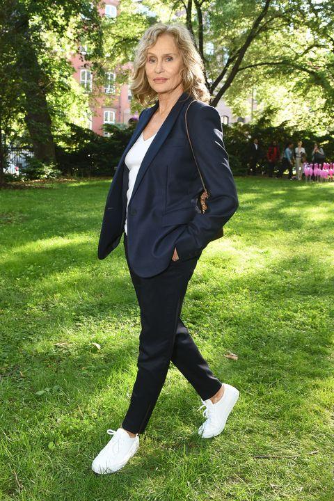 Grass, Coat, Green, Sleeve, Collar, Outerwear, People in nature, Formal wear, Style, Blazer,