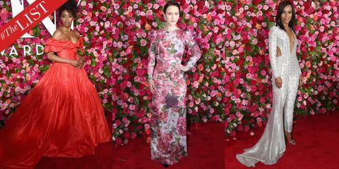 Clothing, Dress, Gown, Pink, Formal wear, Red, Fashion, Peach, Fashion model, Flooring,