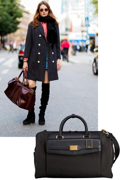 Clothing, Street fashion, Tartan, Coat, Shoulder, Fashion, Plaid, Footwear, Bag, Outerwear,