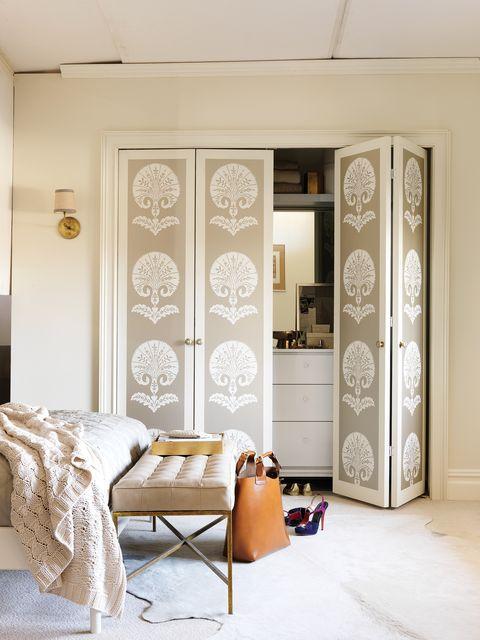 White, Room, Interior design, Furniture, Bedroom, Wall, Ceiling, Door, Floor, Building,