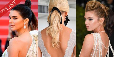Hair, Ear, Hairstyle, Skin, Forehead, Shoulder, Hair accessory, Eyelash, Style, Earrings,