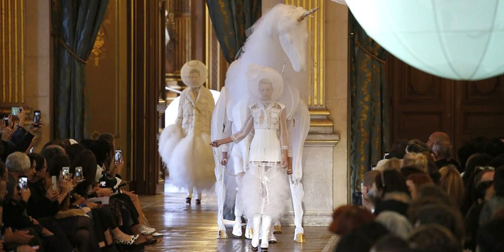 A Unicorn Walked The Runway At Thom Browne's Spring 2018 Show