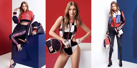 ea4a0e7c49 Gigi Hadid and Tommy Hilfiger Unveil a New Racing-Inspired Collection