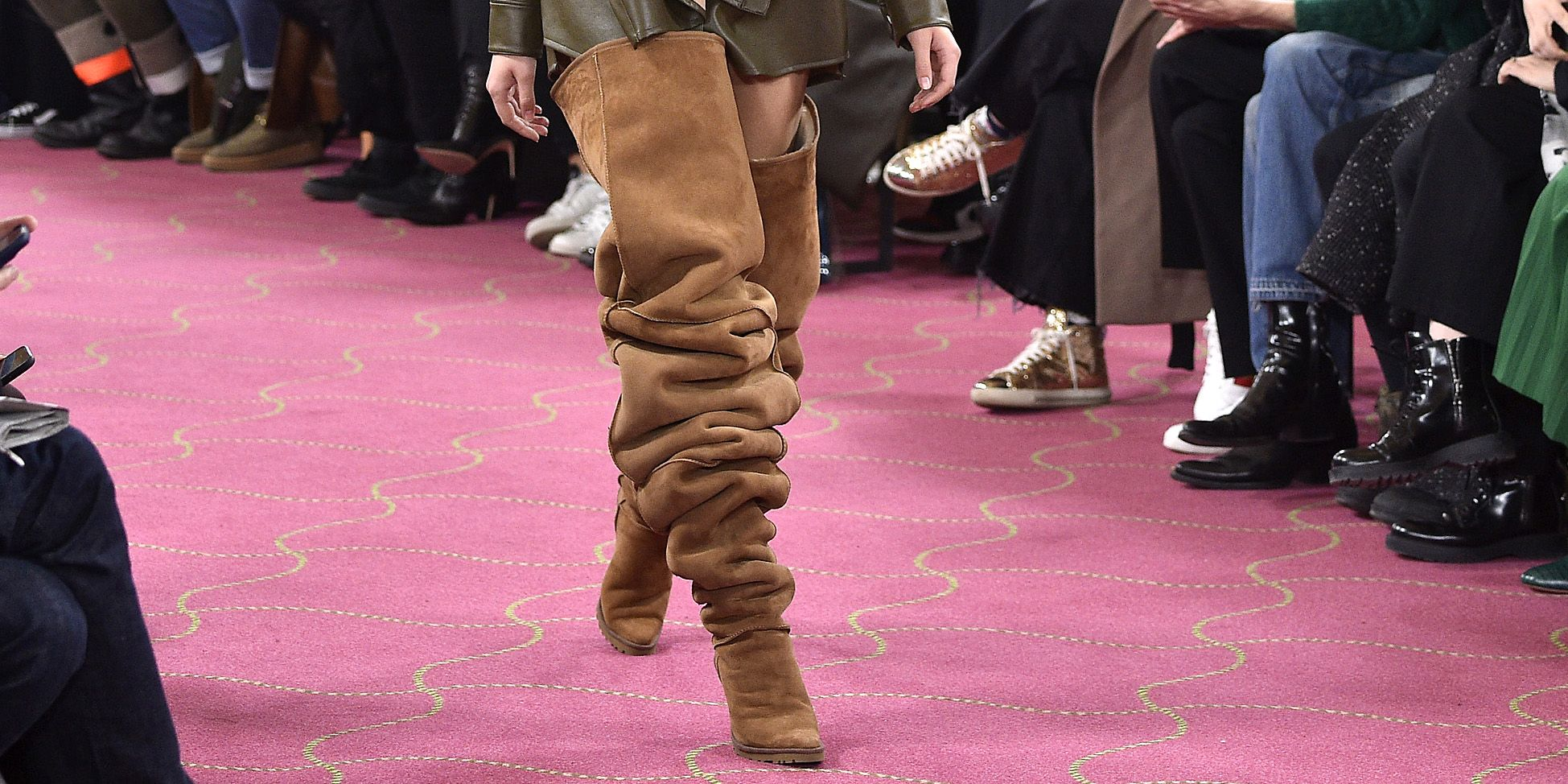 Thigh-High Ugg Boots Paris Fashion Week - Over-the-Knee Ugg Boots