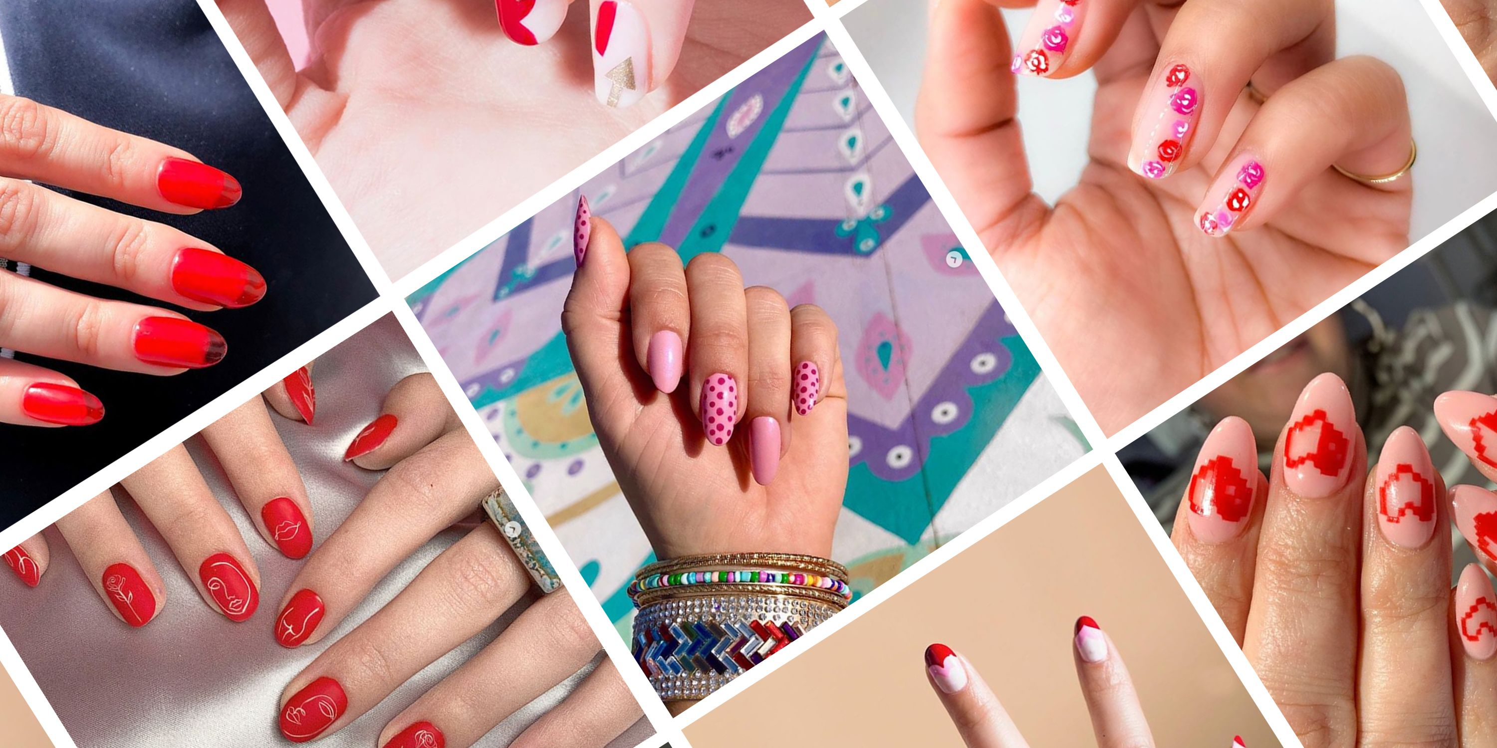 Valentine\u0027s Day Nail Art 2020 , Cute Manicure Ideas for V,Day
